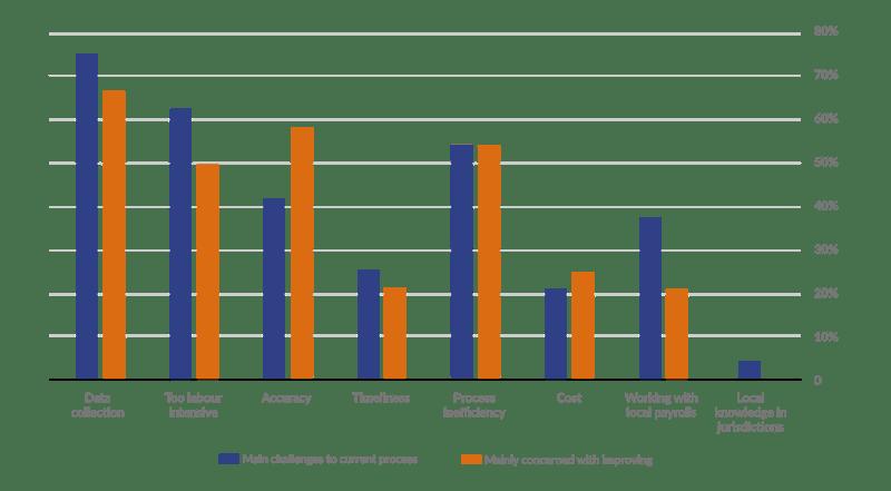 Shadow Payroll Process Challenges Bar Chart